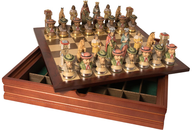 Chess set  with wooden box