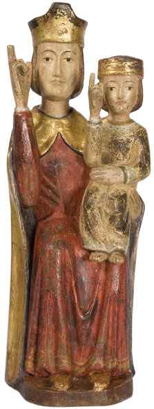 Madonna with Child seated-Romanesque style