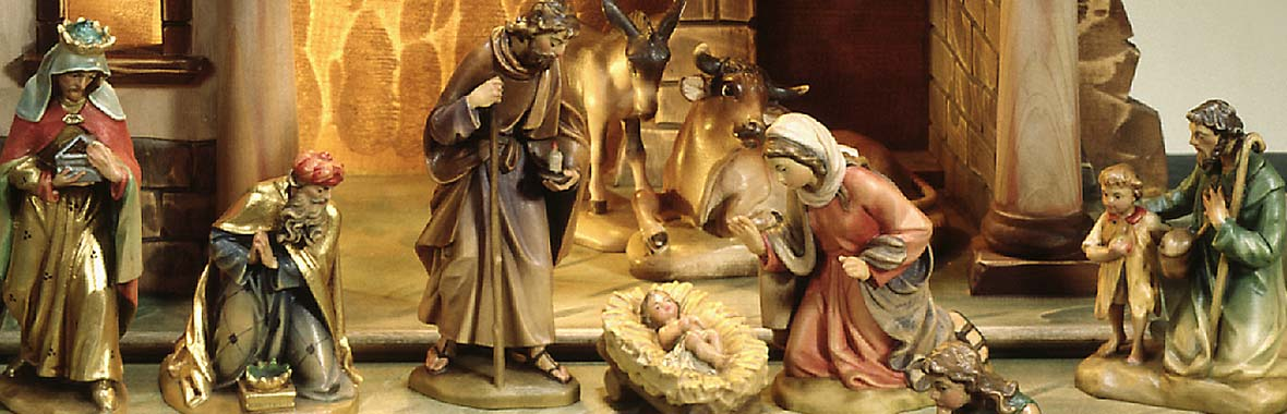 and Mary brought forth her firstborn son, and wrapped him in swadding clodes, and laid him in a manger