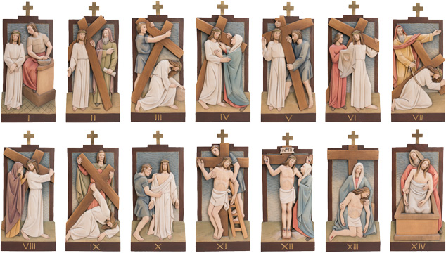 14 Stations of the Cross - 8x16 inch - 20x40 cm