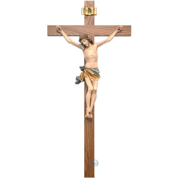 Crucifix-Christ's body with straight cross - COLOR