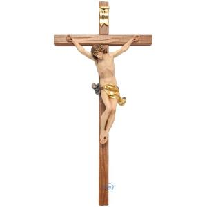Crucifix-Christ's body with straight carved cross