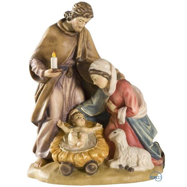 Holy Family group with sheep - COLOR