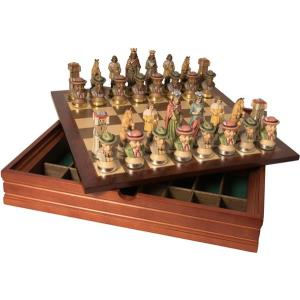 Chess set (3½inch) 9 cm with wooden box