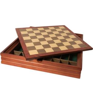 Wooden box for chess set